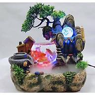 Thác Nước Phong Thủy Tiểu Cảnh Nuôi Cá- Thác Nước Trang Trí Nhà Đẹp, Tụ Tài Lộc, May Mắn thumbnail