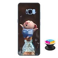 Ốp lưng nhựa dẻo dành cho Samsung Galaxy S8 Plus in hình Heo Con Thư Giãn - Tặng Popsocket in logo iCase - Hàng Chính Hãng thumbnail