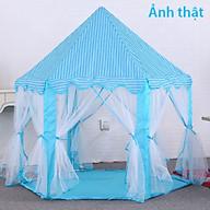 Lều Cho Bé Hình Lâu Đài Công Chúa Lục Giác- Màu Xanh thumbnail