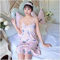 Váy ngủ nữ 2 dây đuôi cá mát mẻ cho mùa hè Vn37 thumbnail
