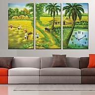 Tranh treo tường, tranh đồng hồ DH3328A bộ 3 tấm ghép thumbnail