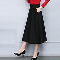 Chân váy xòe dài phối túi D0417 thumbnail