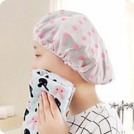 Mũ chụp bảo vệ tóc khi tắm không bị ướt cao cấp - Hàng nội địa Nhật thumbnail