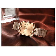 Đồng hồ nữ Hannah Martin - Thép không gỉ - Hình chữ nhật không thấm nước - Chất liệu thạch anh HM-108WF thumbnail