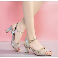 Giày sandan cao gót dự tiệc quai đá gót sơn thumbnail