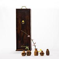 Hộp gỗ đựng trà cụ Nhật Bản thumbnail