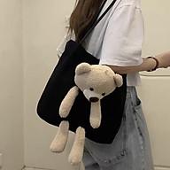 Túi tote hình gấu, túi nữ thời trang phong cách thumbnail