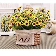 Hoa giả, hoa cúc vàng (1 nhánh 28 hoa) thumbnail