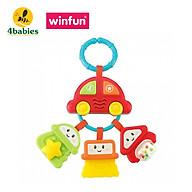 Xúc xắc gặm nướu hình ô tô có đèn nhạc WINFUN 0628 - treo xe đẩy, nôi cũi của bé - đồ chơi cho bé từ 0 tới 12 tháng - BPA free an toàn cho bé - tặng đồ chơi tắm 2 món thumbnail