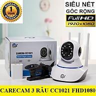 CAMERA CARECAM 3 RÂU FHD1080 - 2.0Mps - Đàm thoại hai chiều rõ ràng hỗ trợ thẻ nhớ lên tới 128Gb thumbnail