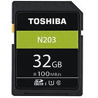 Thẻ nhớ SDHC Toshiba N203 32GB UHS-I U1 C10 100MB s (Đen) - Hàng chính hãng thumbnail