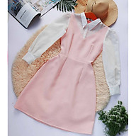 Đầm hồng cổ sơ mi thiết kế nhẹ Nhẹ Nhàng Nữ Tính Tôn Dáng thumbnail