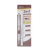 Bút kẻ chân mày Miniso 3 in 1 Flat Eyebrow Pencil - Hàng chính hãng thumbnail