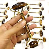 Cây Massaege Mặt Bằng Đá Thạch Anh Kim Tiền Jewelry - Hấp Thụ Ion Xấu - Giảm Stress - Cảm Giác Mát Lạnh thumbnail