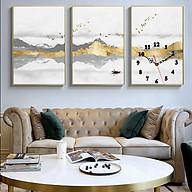 Tranh treo tường, tranh đồng hồ NT219 bộ 3 tấm ghép thumbnail