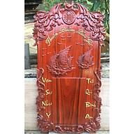 Đốc lịch Thuận buồm xuôi gió gỗ Hương đỏ - Gắn lịch cỡ đại 20x30cm thumbnail