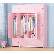Tủ quần áo nhựa lắp ghép màu hồng cam tao nhã sang trọng thumbnail