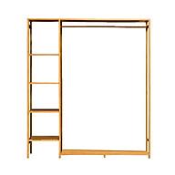 Tủ quần áo trống khung gỗ tre cao cấp, KT 123cm RE0270 thumbnail