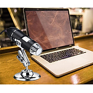 Kính hiển vi kỹ thuật số phóng đại 1600X siêu nét, chân thực, có 8 đèn LED+ giá đỡ đa năng cao cấp (Tặng bộ 6 con bướm dạ quang phát sáng) thumbnail