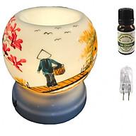 Combo tinh dầu sả chanh Eco oil 10ml cùng đèn xông tinh dầu MNB38 và 1 bóng đèn thumbnail