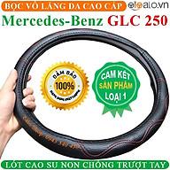 Bọc Vô Lăng Da dành cho Xe Mercedes Benz GLC 250 Lót Cao Su Non Cao Cấp Chống Trượt Tay - Màu đen chỉ đỏ thumbnail