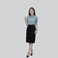 Chân váy nữ thời trang Zenkik bút chì 8 cúc CV03 thumbnail
