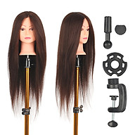 Mannequin Head with Table Clamp Stand Dummy Head for Braiding Practicing Styling Training Manikin Head Hairdresser thumbnail