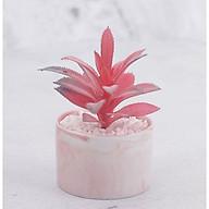 Chậu cây hoa giả hình trụ đá cẩm thạch thumbnail