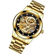 Đồng hồ cơ nam chạm rồng nổi 3D đồng hồ cơ thời trang thumbnail
