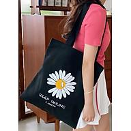 Túi Vải Tote Hoa Cúc Xinh Xắn Phong Cách Hàn Quốc D878 thumbnail