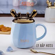 Ly cốc sứ nắp hươu 3D Fellia love dễ thương cho văn phòng, chịu nhiệt độ tốt _FEL10610 thumbnail