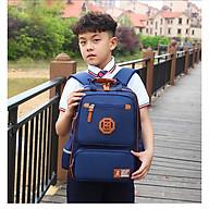 Balo học sinh Zhihuiwangzi cho bé trai (xanh dương tím than) thumbnail