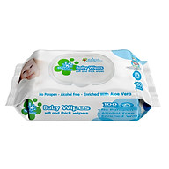 Bịch khăn ướt 100 Tờ không mùi an toàn kháng khuẩn cho bé KU01_SUNBABY thumbnail