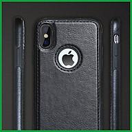 Ốp da đen cao cấp dành cho iPhone X vs iPhone XS thumbnail
