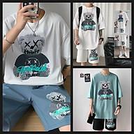 Bộ quần áo thun cotton unisex nam nữ mặc hè siêu mát tặng kèm khẩu trang có video thumbnail