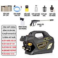 Máy bơm rửa xe mini gia đình, máy lau rửa xe cao áp công suất mạnh 2800W có thể chỉnh áp, bộ máy xịt tưới cây dễ dàng sử dụng, ống bơm nước 15m, vòi bơm áp lực cao C0004B4 thumbnail