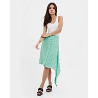 TheBlueTshirt - Cherry Bomb Midi Skirt - Chân váy dài xanh lá họa tiết chấm bi thumbnail