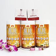 Combo 3 hộp Keto Collagen 500g [Chính Hãng] - Bữa ăn Keto hỗ trợ GIẢM CÂN SIÊU TIỆN LỢI cho người thực hành Keto và người muốn giảm cân - Giảm 3-7Kg 1 tháng [Tặng 2 hộp Mặt nạ Saffron sữa ong chúa và 1 Thước dây] thumbnail