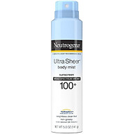 Xịt chống nắng Neutrogena Ultra Sheer Body Mist Sunscreen SPF 100+ 141g thumbnail
