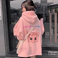 Áo khoác hoodie nam nữ Banawa dáng unisex form rộng có dây kéo chất nỉ bông chống nắng tốt thumbnail