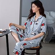Đồ bộ lửng cotton mặc nhà mùa hè dành cho nữ Quãng Châu 22021 thumbnail