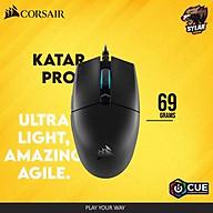 Chuột Gaming USB Corsair Katar Pro Ultra Light (nhẹ 69g, cảm biến cao cấp 12.400dpi, 6 nút với phần mềm tùy chỉnh) - HÀNG CHÍNH HÃNG thumbnail
