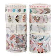 Bộ 10 Băng Keo Giấy Trang Trí Washi Tape thumbnail
