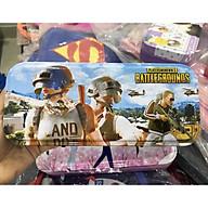 Hộp bút sắt 2 ngăn cho bé trai bé gái có bảng cửu chương in hình Pubg, cô gái, siêu nhân E133 thumbnail