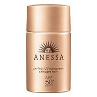 Sữa Chống Nắng Kiềm Dầu Khô Thoáng Anessa Perfect UV Sunscreen Skincare Milk Spf50+ Pa++++ (20ml) thumbnail