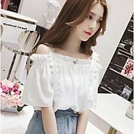 Áo sơ mi nữ trễ vai 2 dây cao cấp mới thời trang Quảng Châu - RiBi Shop thumbnail