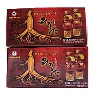 Combo 2 hộp nước hồng sâm ngâm rễ củ sâm Hàn Quốc 10 chai x 120ml, nước sâm phục hồi cơ thể thumbnail