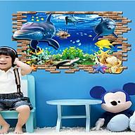 Decal dán tường cửa sổ cá heo ay9706 thumbnail