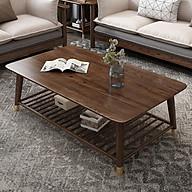 L.U.X. Bàn trà gỗ tự nhiên - bàn trà cao cấp phòng khách (kt 120x60x45cm) thumbnail