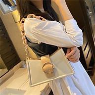 Túi xách nữ đẹp, túi xách nữ thời trang quai xích khóa tròn, thiết kế hiện đại mã T200 thumbnail